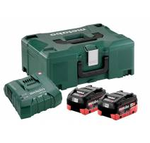 Metabo Basic-Set 2 x LIHD 8.0 AH+ ASC ULTRA + METALOC 685131000